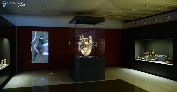 """Η ενότητα """"Ο Χρυσός των Μακεδόνων"""" παρουσιάζει τη σημασία του χρυσού στον πολιτισμό της αρχαίας Μακεδονίας"""