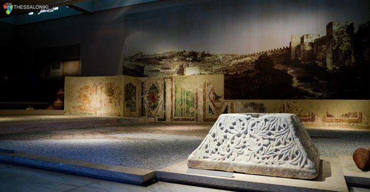 Άποψη έκθεσης: Παλαιοχριστιανική Πόλη και Κατοικία. Η ζωή και η όψη των πόλεων. Μουσείο Βυζαντινού Πολιτισμού