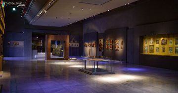 Άποψη έκθεσης: Το Βυζάντιο μετά το Βυζάντιο. Σε αυτήν παρουσιάζεται η βυζαντινή κληρονομιά στους χρόνους μετά την Άλωση