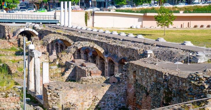 Στοές στην Αρχαία Αγορά Θεσσαλονίκης