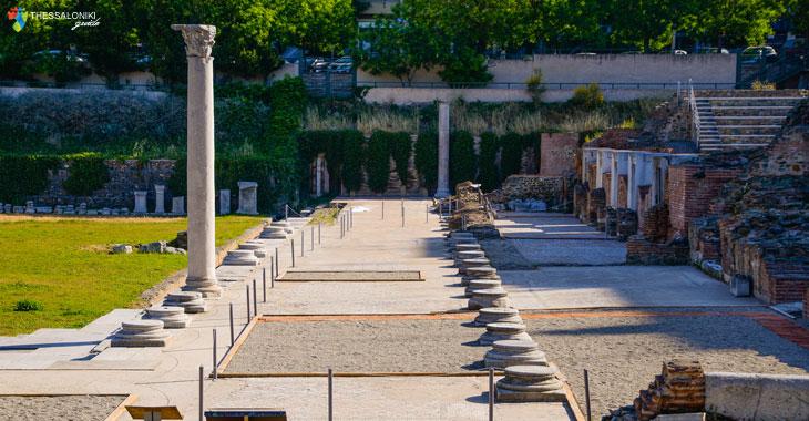 Κιονοστοιχίες στην Αρχαία Αγορά Θεσσαλονίκης