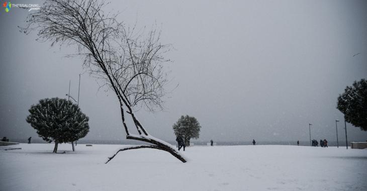 Θεσσαλονίκη 2017 με χιόνια