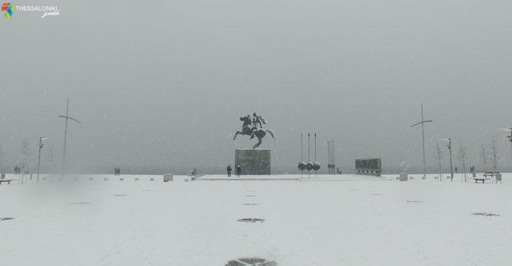 Ενα όμορφο Βίντεο από τη Χιονισμένη Θεσσαλονίκη