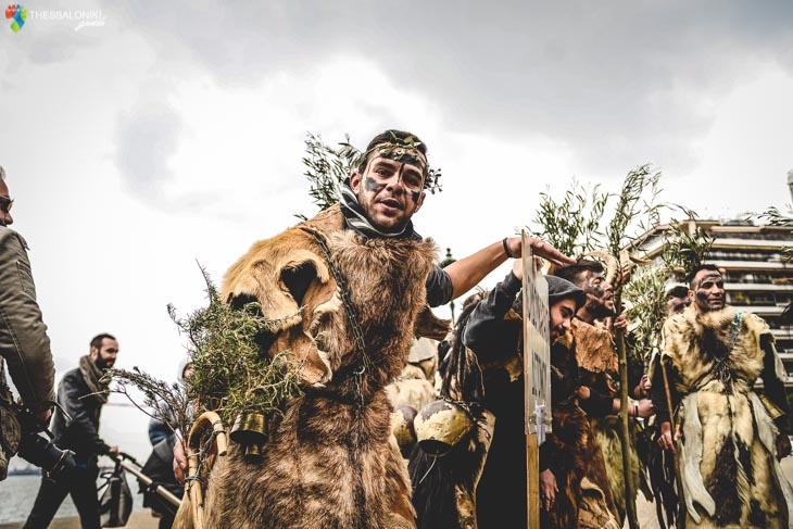 Παρέλαση των Κουδουνοφόρων στη Θεσσαλονίκη