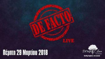 "De Facto Live στο ""Δέντρο στο Bar"""
