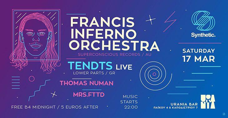 Francis Inferno Orchestra - Tendts-live στο Urania Bar