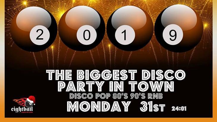 Ν.Υ.E Πρωτοχρονια Disco Party 8ball