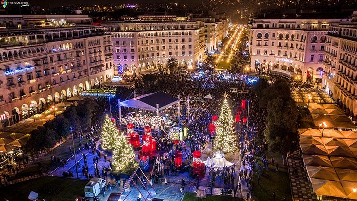 Χριστουγεννα 2019-2020 στην πλατεία Αριστοτέλους| ThessalonikiGuide.gr
