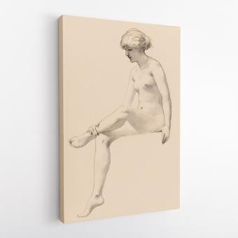 Σκίτσο Γυμνής Καθιστής Γυναίκας του Τζέιμς Ουέλς Τσάπνϋ