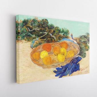 Γαλάζια Γάντια, Βάζο με Πορτοκάλια και Λεμόνια του Βαν Γκογκ